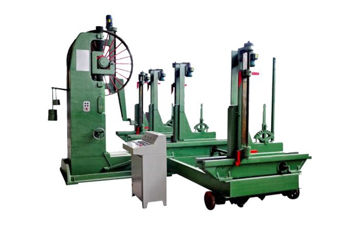 MJ3215B型木工带锯机(60寸)配MJ329/4D型全自动跑车(60寸)组合