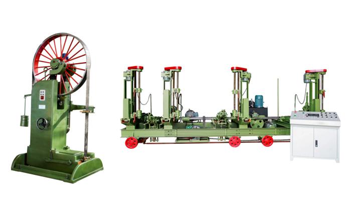 MJ3212B型木工带锯机(50寸)配MJ329/3DE-F型全自动跑车(50寸)组合